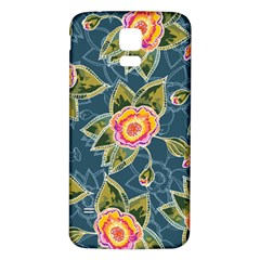 Floral Fantsy Pattern Samsung Galaxy S5 Back Case (White)