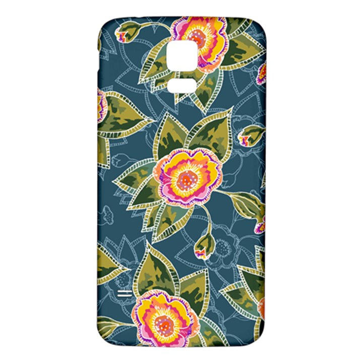 Floral Fantsy Pattern Samsung Galaxy S5 Back Case (White)