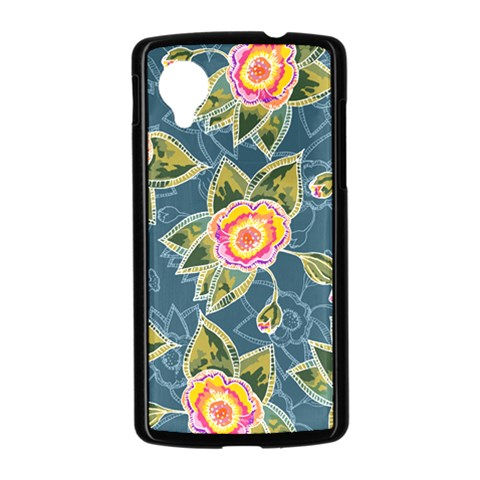 Floral Fantsy Pattern Nexus 5 Case (Black)
