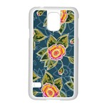 Floral Fantsy Pattern Samsung Galaxy S5 Case (White) Front
