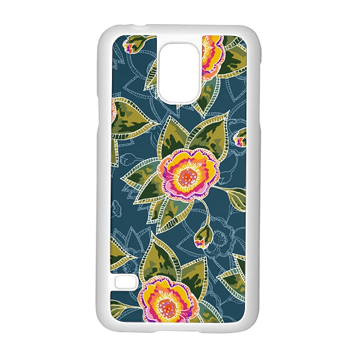 Floral Fantsy Pattern Samsung Galaxy S5 Case (White)