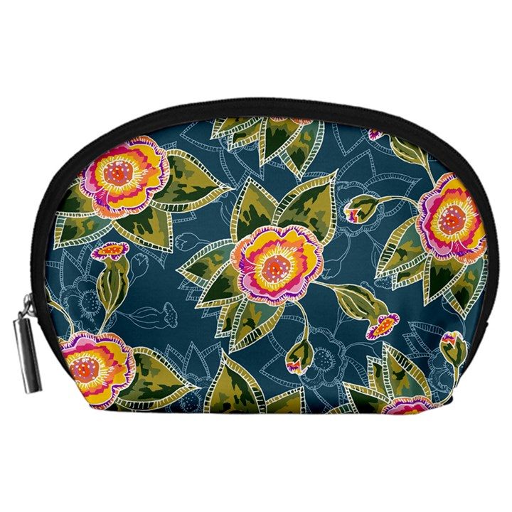 Floral Fantsy Pattern Accessory Pouches (Large)