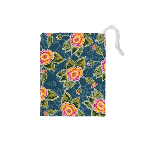 Floral Fantsy Pattern Drawstring Pouches (Small)