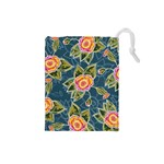 Floral Fantsy Pattern Drawstring Pouches (Small)  Front