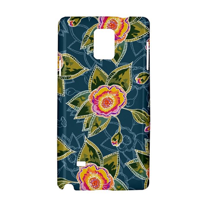 Floral Fantsy Pattern Samsung Galaxy Note 4 Hardshell Case