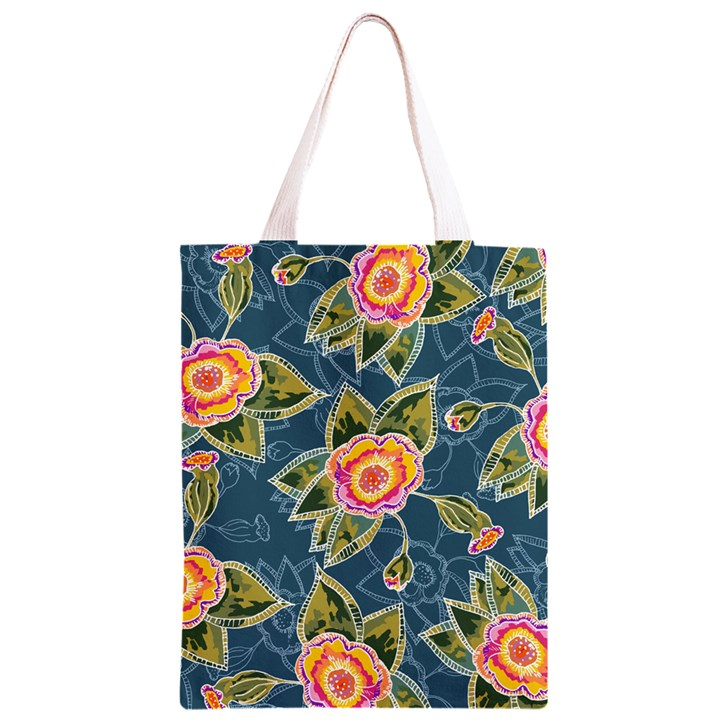 Floral Fantsy Pattern Classic Light Tote Bag
