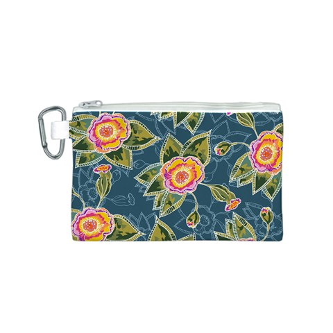 Floral Fantsy Pattern Canvas Cosmetic Bag (S)