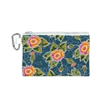 Floral Fantsy Pattern Canvas Cosmetic Bag (S) Front