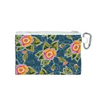 Floral Fantsy Pattern Canvas Cosmetic Bag (S) Back