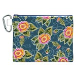 Floral Fantsy Pattern Canvas Cosmetic Bag (XXL) Front