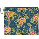 Floral Fantsy Pattern Canvas Cosmetic Bag (XXXL) Front