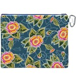 Floral Fantsy Pattern Canvas Cosmetic Bag (XXXL) Back
