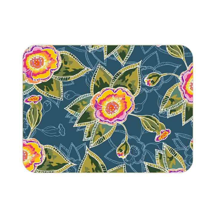 Floral Fantsy Pattern Double Sided Flano Blanket (Mini)