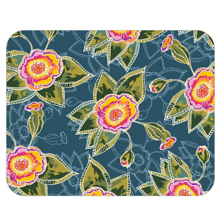 Floral Fantsy Pattern Double Sided Flano Blanket (Medium)