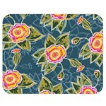Floral Fantsy Pattern Double Sided Flano Blanket (Medium)  60 x50 Blanket Back