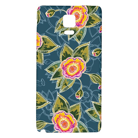 Floral Fantsy Pattern Galaxy Note 4 Back Case