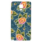 Floral Fantsy Pattern Galaxy Note 4 Back Case Front