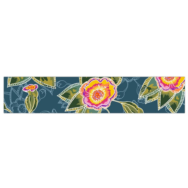 Floral Fantsy Pattern Flano Scarf (Small)