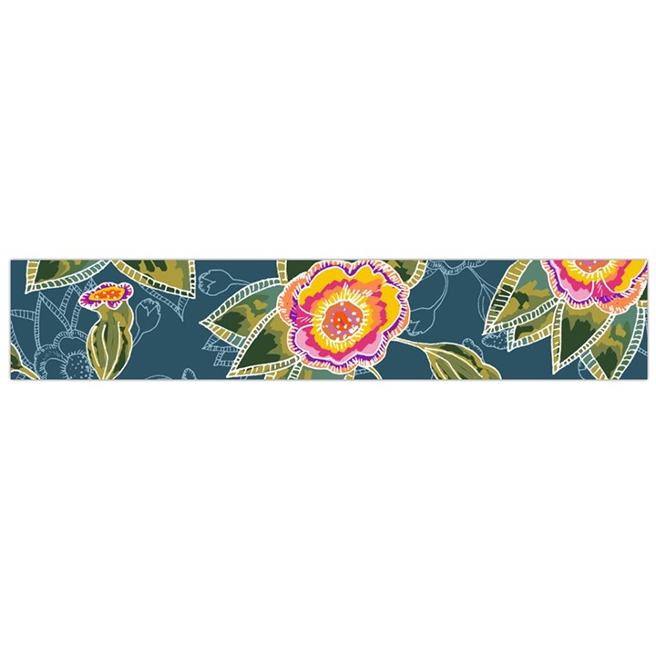 Floral Fantsy Pattern Flano Scarf (Large)