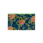 Floral Fantsy Pattern Cosmetic Bag (XS) Back