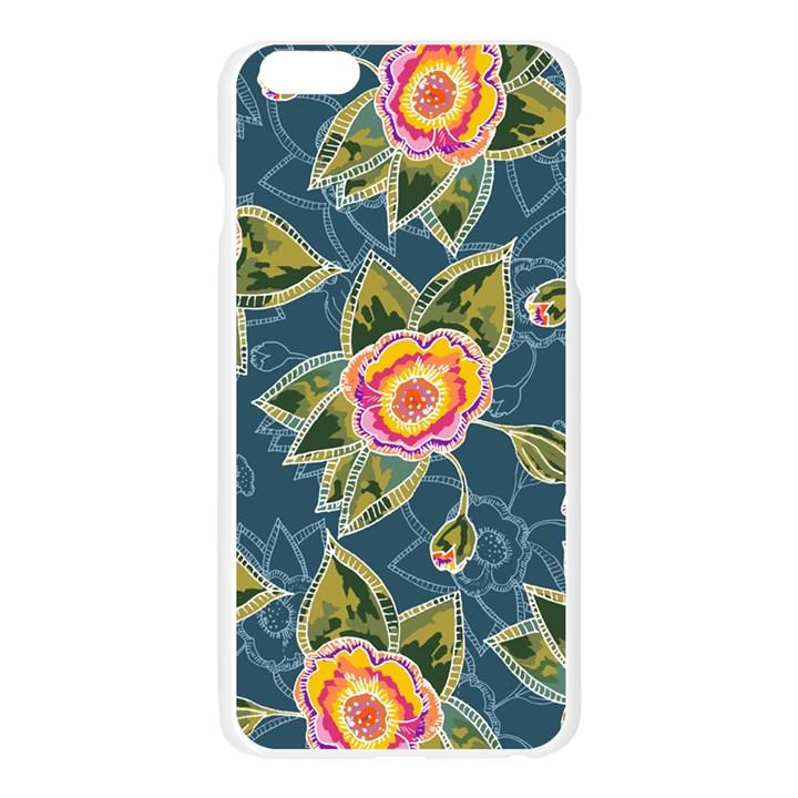 Floral Fantsy Pattern Apple Seamless iPhone 6 Plus/6S Plus Case (Transparent)