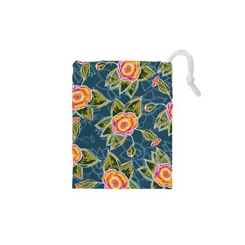 Floral Fantsy Pattern Drawstring Pouches (XS)