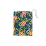 Floral Fantsy Pattern Drawstring Pouches (XS)  Front