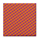 Vibrant Retro Diamond Pattern Tile Coasters Front