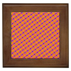 Vibrant Retro Diamond Pattern Framed Tiles