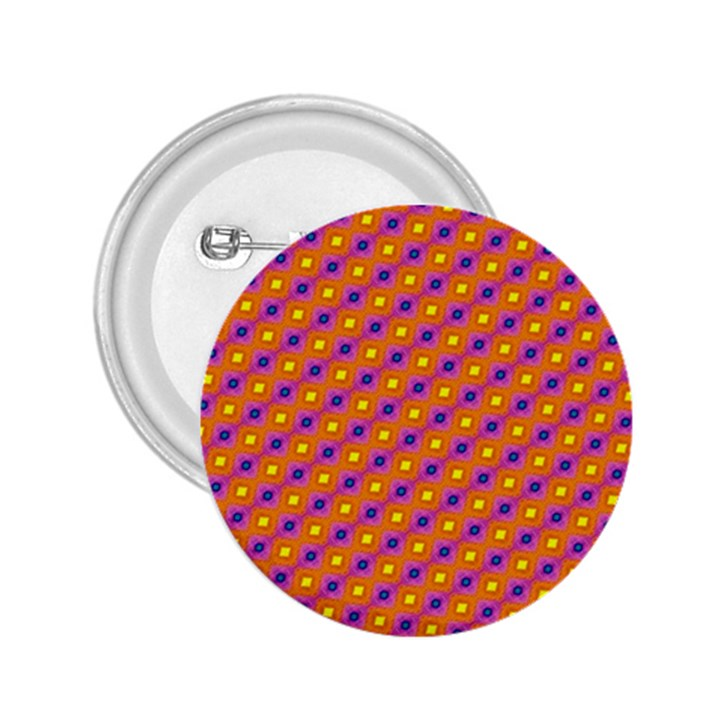 Vibrant Retro Diamond Pattern 2.25  Buttons