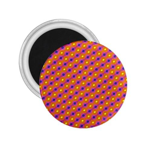 Vibrant Retro Diamond Pattern 2.25  Magnets