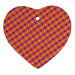 Vibrant Retro Diamond Pattern Ornament (Heart)  Front