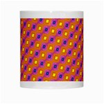 Vibrant Retro Diamond Pattern White Mugs Center