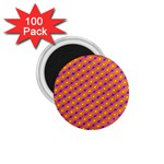 Vibrant Retro Diamond Pattern 1.75  Magnets (100 pack)  Front