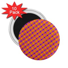 Vibrant Retro Diamond Pattern 2.25  Magnets (10 pack)