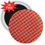 Vibrant Retro Diamond Pattern 3  Magnets (10 pack)  Front