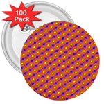 Vibrant Retro Diamond Pattern 3  Buttons (100 pack)  Front