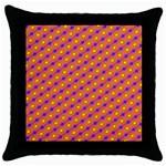 Vibrant Retro Diamond Pattern Throw Pillow Case (Black) Front