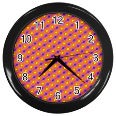 Vibrant Retro Diamond Pattern Wall Clocks (black)