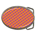 Vibrant Retro Diamond Pattern Belt Buckles Front