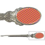 Vibrant Retro Diamond Pattern Letter Openers Front