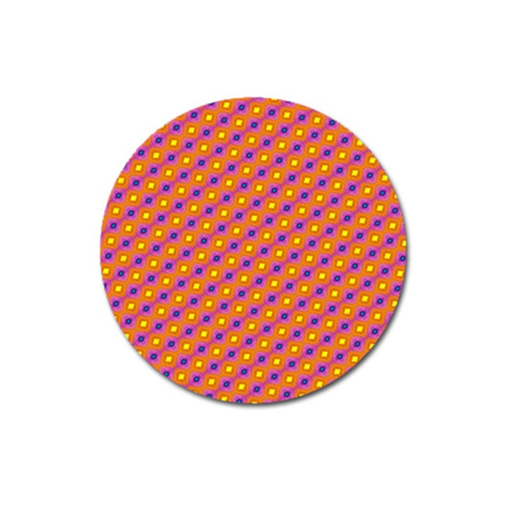 Vibrant Retro Diamond Pattern Magnet 3  (Round)