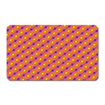Vibrant Retro Diamond Pattern Magnet (Rectangular) Front