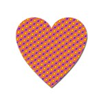 Vibrant Retro Diamond Pattern Heart Magnet Front