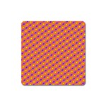 Vibrant Retro Diamond Pattern Square Magnet Front