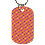 Vibrant Retro Diamond Pattern Dog Tag (Two Sides) Back