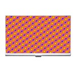 Vibrant Retro Diamond Pattern Business Card Holders Front