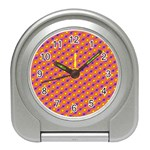 Vibrant Retro Diamond Pattern Travel Alarm Clocks Front