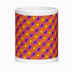 Vibrant Retro Diamond Pattern Morph Mugs Center