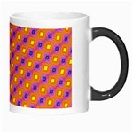 Vibrant Retro Diamond Pattern Morph Mugs Right